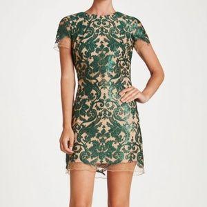 Dress the Population-Megan Sequin lace shift dress